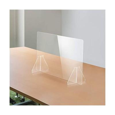 当日発送 日本製 透明アクリルパーテーショ ン 多種サイズ 特大足付き 安定性重視 デ スクスクリーン 仕切り板 衝立 (約幅600x高さ6