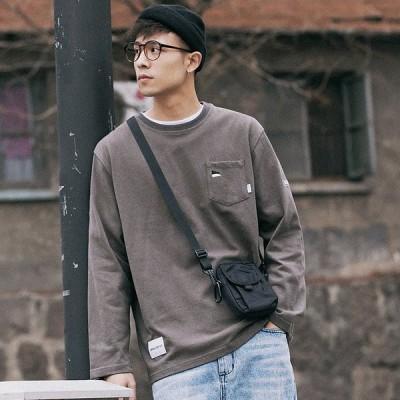 (品質が良いです)ロール春秋季男性の日は丸い襟のゆったりしている長袖ネットの赤いTシャツのカジュアルな上着の韓国版のいろいろなファッションがあります。