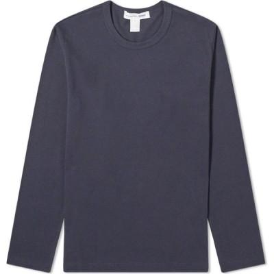 コム デ ギャルソン Comme des Garcons SHIRT メンズ 長袖Tシャツ トップス Long Sleeve Classic Tee Navy