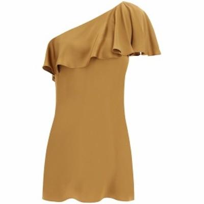 SAINT LAURENT PARIS/イヴ サンローラン Mixed colours Saint laurent one shoulder mini dress レディース 春夏2021 645996 Y5C44 ik