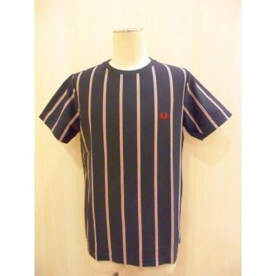 FRED PERRY Stripe T-Shirt (NAVY REGIMENTAL STRIPE)  (F1597/01)