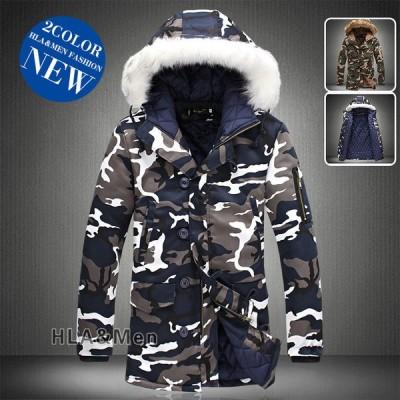 中綿コート メンズ 厚手ジャケット 中綿入り 中綿ジャケット 防寒着 迷彩 防風 フード付き ファー付き あったか