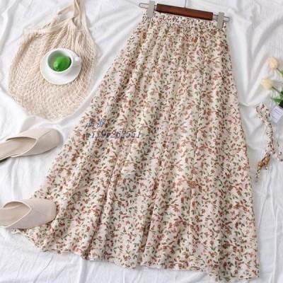 小花柄ロングスカート レディース スカート 大人可愛い 花柄スカート おでかけ オシャレ ロングスカート 花柄ロングスカート 小花柄 フラワー デート かわいい