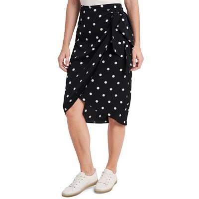 ライリー レイ スカート ボトムス レディース Ami Dot-Print Skirt, Created for Macy's Rich Black