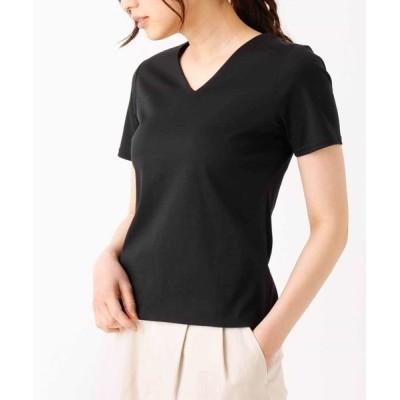tシャツ Tシャツ 前身二重VネックTシャツ