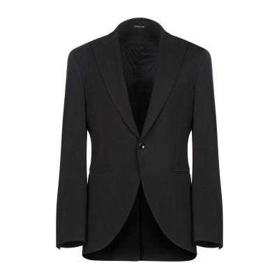トネッロ TONELLO テーラードジャケット ブラック 54 バージンウール 98% / ポリウレタン 2% テーラードジャケット