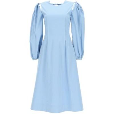 MSGM/エムエスジーエム Light blue Msgm midi dress with pintucks レディース 春夏2021 3041MDA25 217109 ik