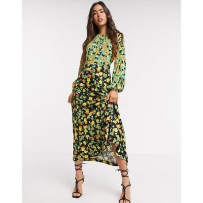 クローゼットロンドン レディース ワンピース トップス Closet London print midi dress in contrast floral
