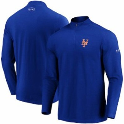 Under Armour アンダー アーマー スポーツ用品  Under Armour New York Mets Royal Passion Performance Tri-Blend Quarter-Zip Pullover