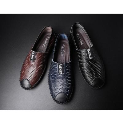 メンズスリッポン おしゃれ  デッキシューズ ローファー レザー デッキシューズ エスパドリーユ シューズ カジュアル 紳士靴 秋新作 高品質 通気の良い靴