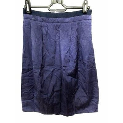 【中古】ユナイテッドアローズ UNITED ARROWS スカート ひざ丈 台形 36 紫 パープル /AAO22 レディース