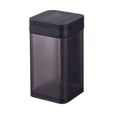 山崎実業(Yamazaki) マグネット小麦粉&スパイスボトル タワー ブラック 約W5.8XD6XH10.5cm タワー 調味料入れ スライ?