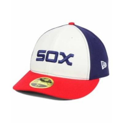ニューエラ メンズ 帽子 アクセサリー Chicago White Sox Low Profile AC Performance 59FIFTY Cap Black/White/Red
