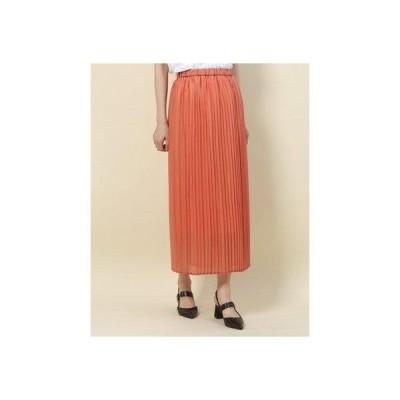 ドゥアルシーヴ DOUX ARCHIVES エアリーナロープリーツスカート (オレンジ)