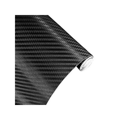 Ursmartt 3Dブラックカーボンファイバーフィルム 5フィート x 1フィート 自動車用ラップビニールロール 5ft x 1ft ブラック Zq好評販売中