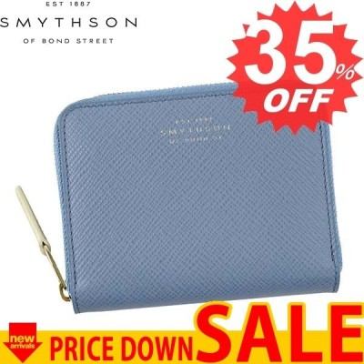 スマイソン 財布 小銭入れ SMYTHSON PANAMA 1017178 ZIP COIN PURSE 4CC  NILE BLUE   比較対象価格 30,240円