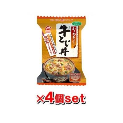 アマノフーズ 小さめどんぶり 牛とじ丼 4個セット フリーズドライ ドライフード インスタント食品