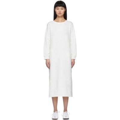 ブルーブルージャパン Blue Blue Japan レディース ワンピース ワンピース・ドレス White Cotton Dress White