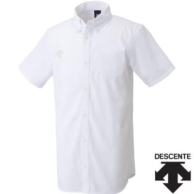 ◆◆○送料無料 メール便発送 <デサント> メンズ ボタンダウン半袖シャツ DMC4610 (WHT) トレーニングウェア DMC4610-WHT