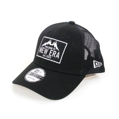 NEW ERA ニューエラ ユニセックス 帽子 メッシュキャップ 9FORTY トラッカー ニューエラ マウンテン ブラック 12325759