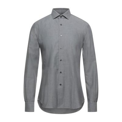XACUS シャツ グレー 41 コットン 100% シャツ