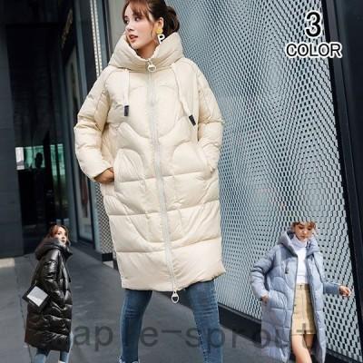 ダウンコートレディース中綿ジャケットダウンジャケットアウターロングコート中綿コート厚手春秋冬カジュアルコート防寒対策暖かい