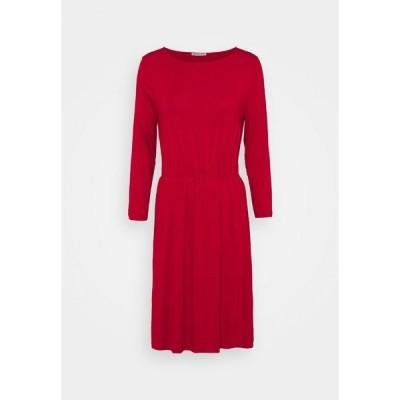 アンナフィールド ワンピース レディース トップス Mini waisted basic dress - Jersey dress - red