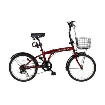 自転車 折りたたみ自転車 自転車 折りたたみ MG-206G-RL ClassicMimugo FDB20 6SG クラシックレッド (MMG)(QCB02)