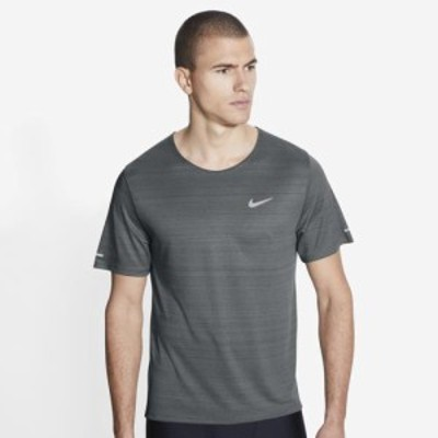 (取寄)ナイキ メンズ ドライ ミラー ショート スリーブ トップ Nike Men's Dry Miler Short Sleeve Top Smoke Grey Reflective Silver