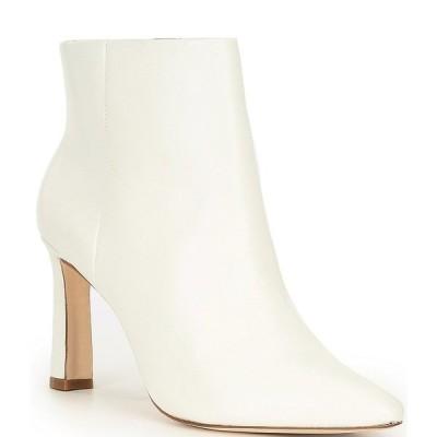 アントニオメラニー レディース ブーツ&レインブーツ シューズ Stazie Leather Side Zip Pointed Toe Booties White