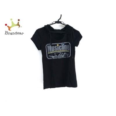グリッツ GLITZ 半袖Tシャツ サイズM レディース - 訳あり 黒×マルチ クルーネック/フード付   スペシャル特価 20210213