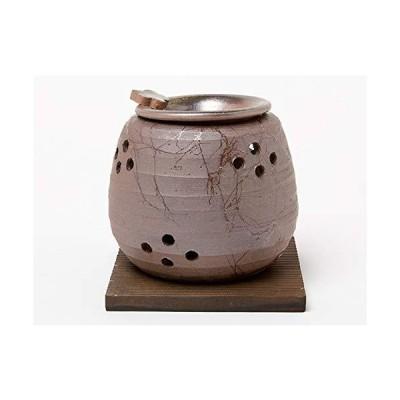 石龍 焼〆ダルマ形藻がけ茶香炉0-165