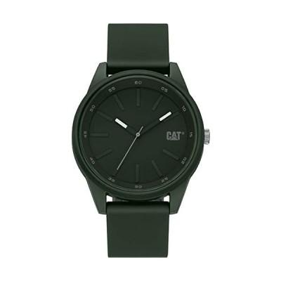 腕時計 キャタピラー メンズ LJ.130.23.323 Cat Insignia Black Men Watch, 42 mm case, Green Abs case,