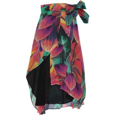 ピンコ PINKO 7分丈スカート グリーン 40 レーヨン 100% 7分丈スカート