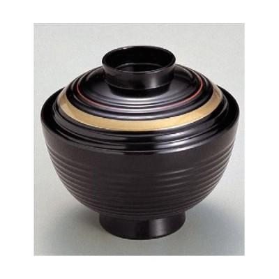 汁椀 3.7寸荒筋椀 朱金ライン 食洗器 洗浄機 使用可能 寸法: 11.1φ x 9.9cm 入数: 100個