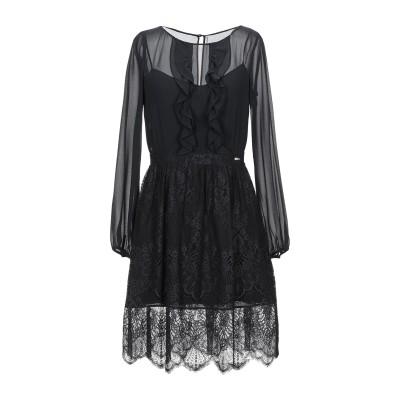 リュー ジョー LIU •JO ミニワンピース&ドレス ブラック 38 ポリエステル 100% / ナイロン / コットン ミニワンピース&ドレス