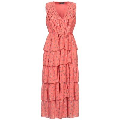 VANESSA SCOTT ロングワンピース&ドレス コーラル S ポリエステル 100% ロングワンピース&ドレス