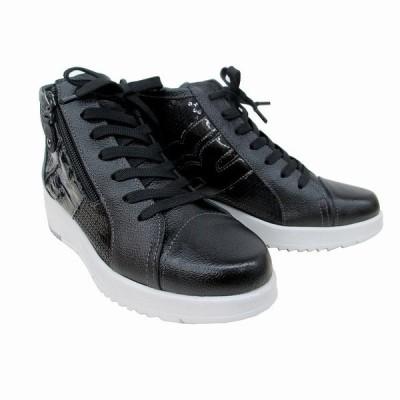送料無料 ビタノバ VITA NOVA vita nova 3739 レディース 革靴 外反母趾靴 コンフォートシューズ 紐靴 厚底 ブラックコンビ