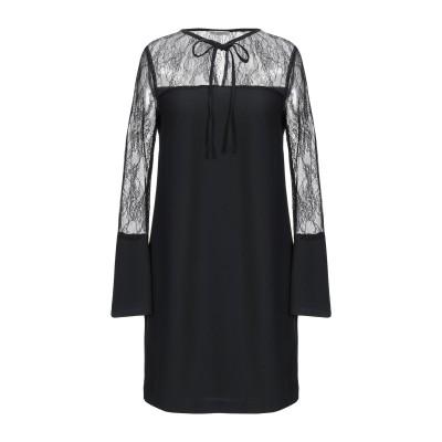 RUE•8ISQUIT ミニワンピース&ドレス ブラック 42 ナイロン 100% / ポリエステル ミニワンピース&ドレス