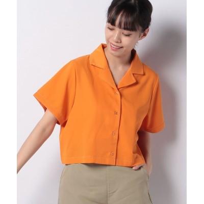 【プニュズ】 ショート丈開襟シャツ レディース オレンジ 1 PUNYUS