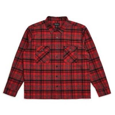 ブリクストン メンズ シャツ トップス Brixton Men's Archie Long Sleeve Flannel RED/BLACK COMBO