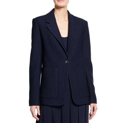 セント ジョン コレクション レディース ジャケット・ブルゾン アウター Modern Pique Knit Notch Collar Jacket