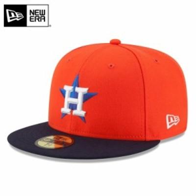 【メーカー取次】 NEW ERA ニューエラ 59FIFTY MLB On-Field ヒューストン・アストロズ オレンジXネイビー 11449372 キャップ / ミリタリ