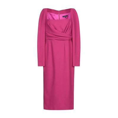 IVAN MONTESI 7分丈ワンピース・ドレス フューシャ 42 ウール 100% 7分丈ワンピース・ドレス