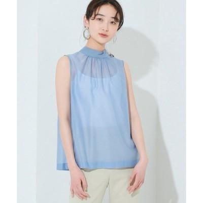 tシャツ Tシャツ 【STUDIOUS】シアーハイネックブラウス