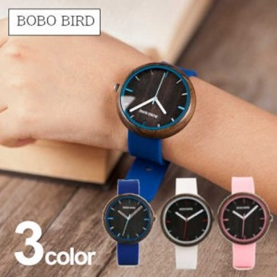 腕時計 レディース シリコン ボボバード BOBO BIRD 腕時計 木製 時計 アナログ ウッドウォッチ 女性 シリコンバンド W-R28 おしゃれ かわ