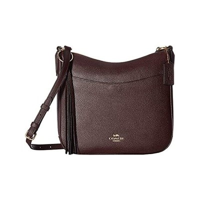 COACH Polished Pebble Leather Chaise Crossbody Gold/Oxblood One Size
