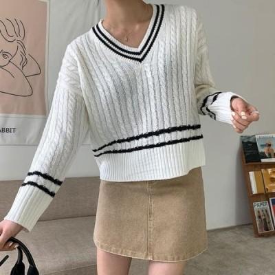 ENVYLOOK レディース ニット/セーター Mer Color V Knitwear