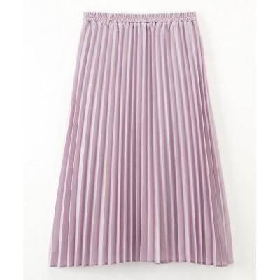 大きいサイズ 微光沢プリーツスカート ,スマイルランド, スカート, plus size skirts