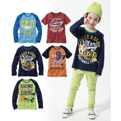 【もっとゆったりサイズ】プリントTシャツ5枚組(半袖2枚+長袖3枚)(子供服 男の子 ジュニア服) (Tシャツ・カットソー)Kids' T-shirts